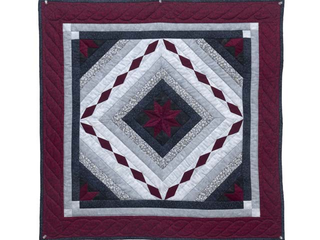 Burgundy Black and Gray Star Struck Wall Hanging Photo 1