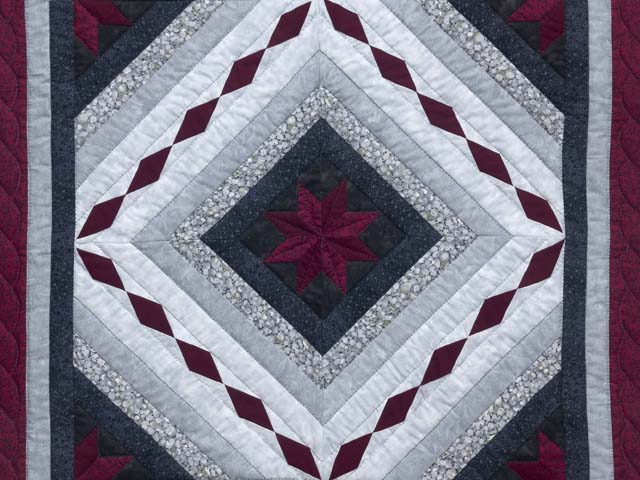 Burgundy Black and Gray Star Struck Wall Hanging Photo 2