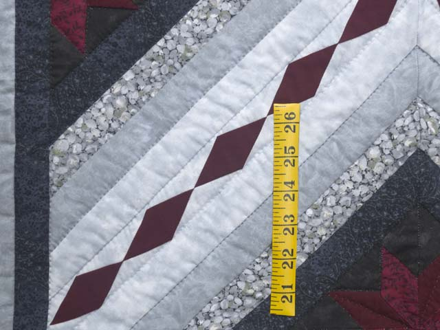 Burgundy Black and Gray Star Struck Wall Hanging Photo 3