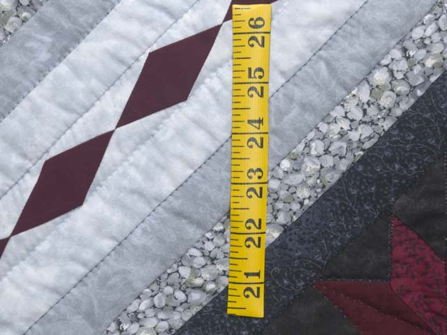 Burgundy Black and Gray Star Struck Wall Hanging Photo 4