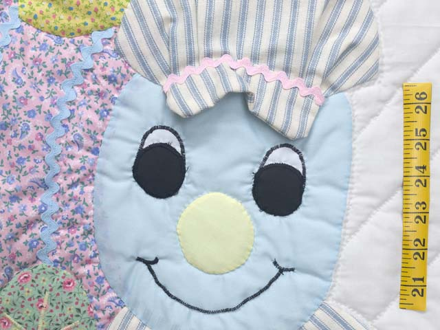 Pastel Blue and Pink Thomas Train Crib Quilt Photo 4