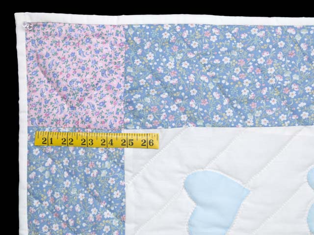 Pastel Blue and Pink Thomas Train Crib Quilt Photo 5