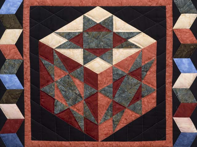 Batik Evening Star Cube Wall Hanging Photo 2