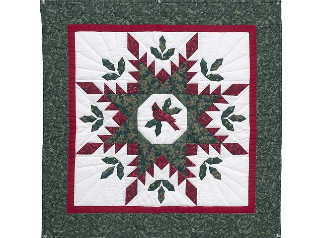 Christmas Cardinal  Feathered Star Wall Hanging Photo 1