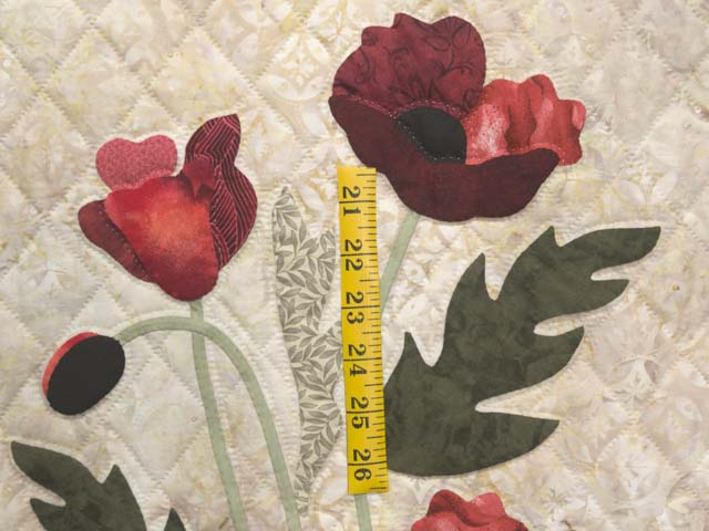 Moss Green and Red Poppy Fields Wall Hanging Photo 3
