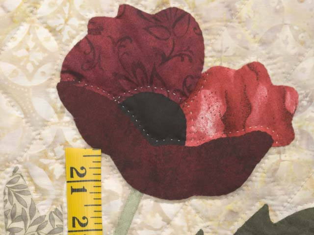 Moss Green and Red Poppy Fields Wall Hanging Photo 4