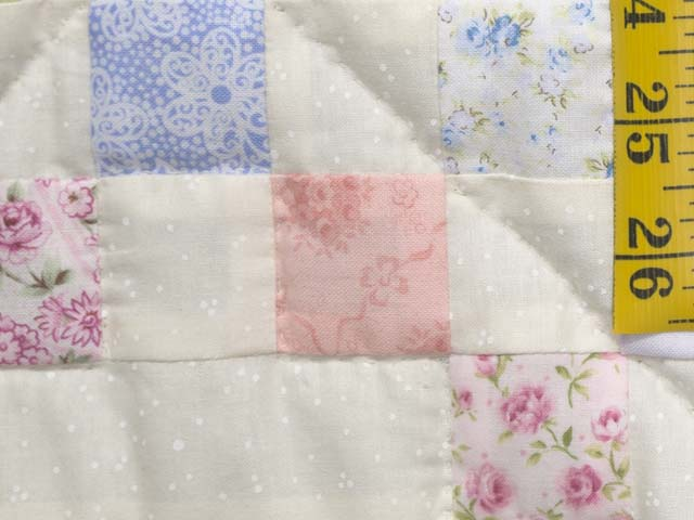 Pastel Irish Chain Crib Quilt Photo 5
