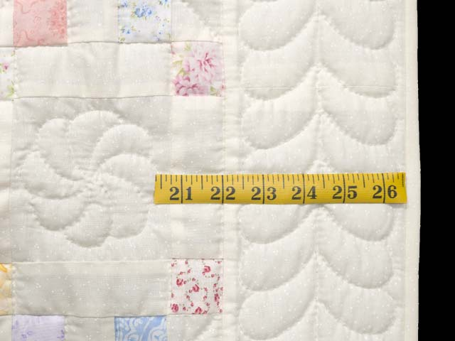 Pastel Irish Chain Crib Quilt Photo 6