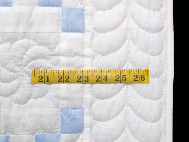 Pastel Blue and Cream Irish Chain Crib Quilt Photo 5