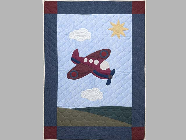 Alice Airplane Crib Quilt Photo 1