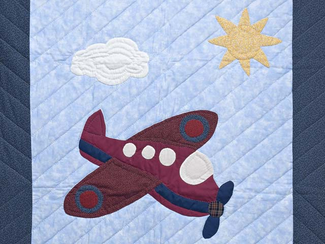 Alice Airplane Crib Quilt Photo 2