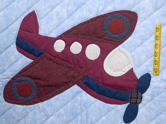 Alice Airplane Crib Quilt Photo 3