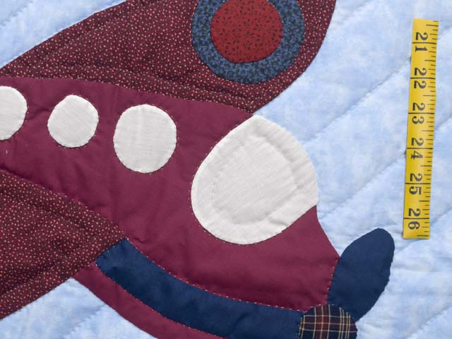 Alice Airplane Crib Quilt Photo 4