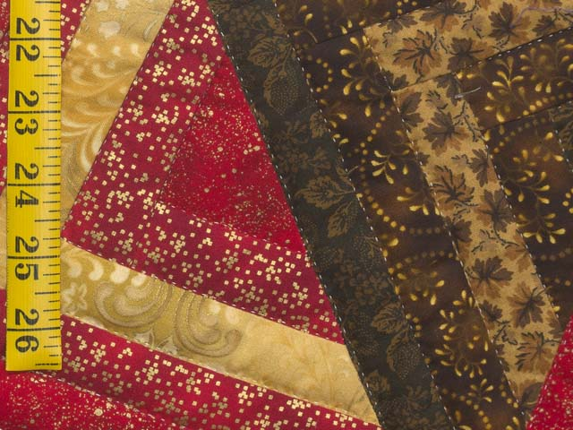 Red Brown and Gold Star Spin Wall Hanging Photo 5