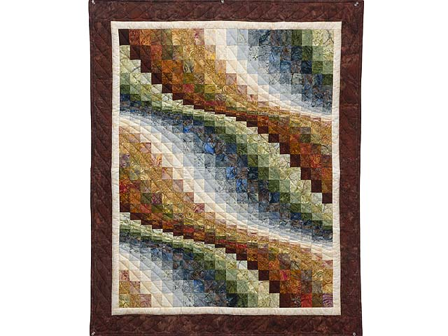 Hand Painted Bargello Wave Wall Hanging Photo 1