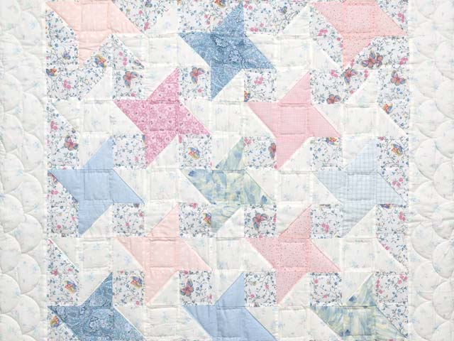 Pastel Friendship Star Crib Quilt Photo 2