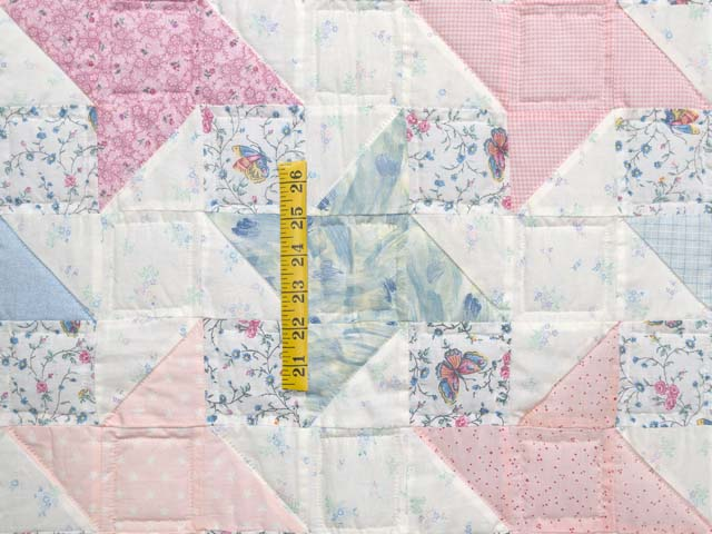 Pastel Friendship Star Crib Quilt Photo 3