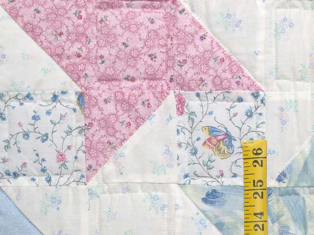 Pastel Friendship Star Crib Quilt Photo 4