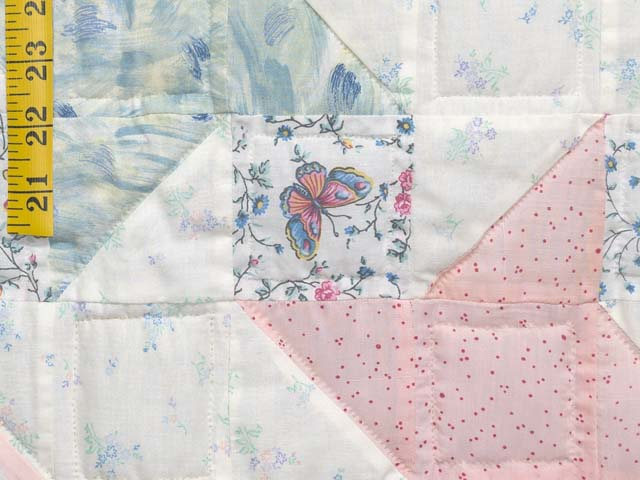 Pastel Friendship Star Crib Quilt Photo 5