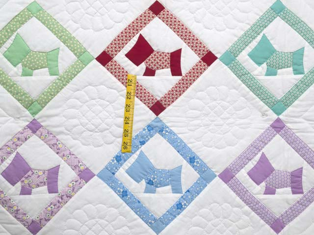 Green and Pastels Scotties Crib Quilt Photo 3