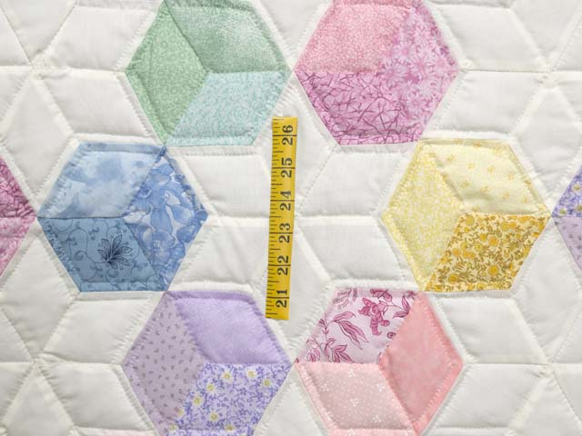 Pink and Pastels Tumbling Blocks Crib Quilt Photo 3