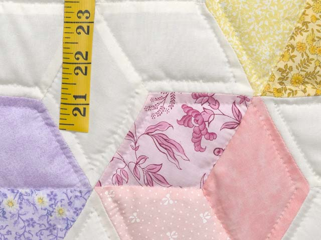 Pink and Pastels Tumbling Blocks Crib Quilt Photo 5