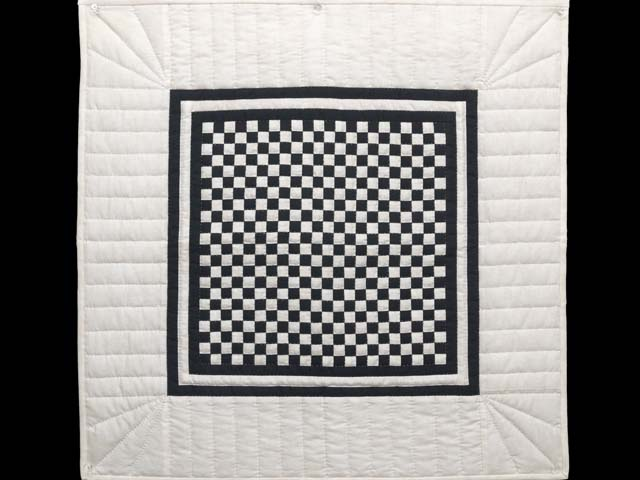Black and Cream Checkerboard Wall Hanging Photo 1