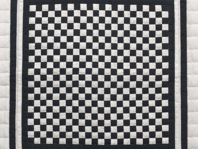 Black and Cream Checkerboard Wall Hanging Photo 2