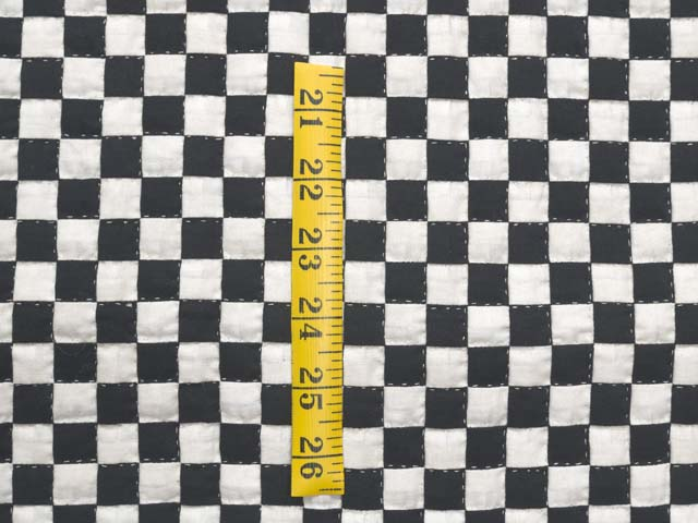 Black and Cream Checkerboard Wall Hanging Photo 3