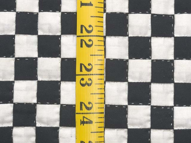 Black and Cream Checkerboard Wall Hanging Photo 4