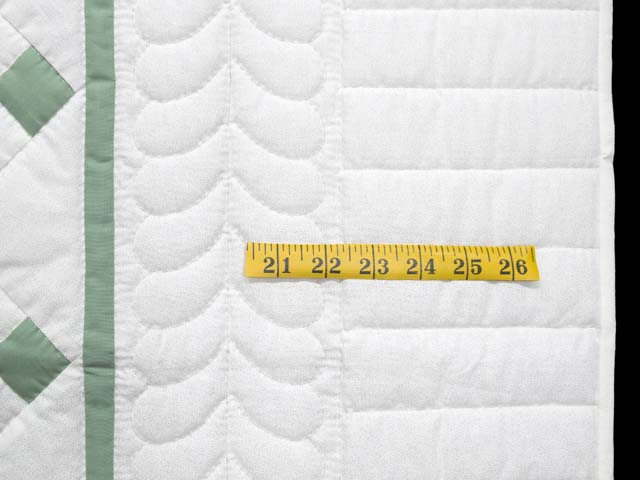 Green and Cream Nine Patch Crib Quilt Photo 5