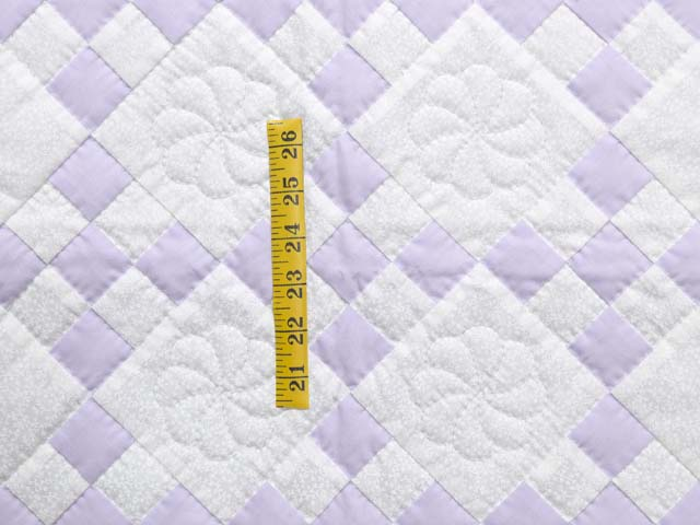 Lilac and Cream Nine Patch Crib Quilt Photo 3