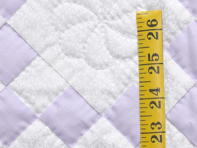 Lilac and Cream Nine Patch Crib Quilt Photo 4