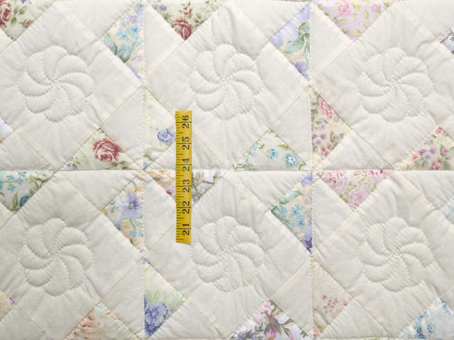 Floral Pastels and Cream Pinwheel Crib Quilt Photo 3