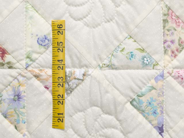 Floral Pastels and Cream Pinwheel Crib Quilt Photo 4