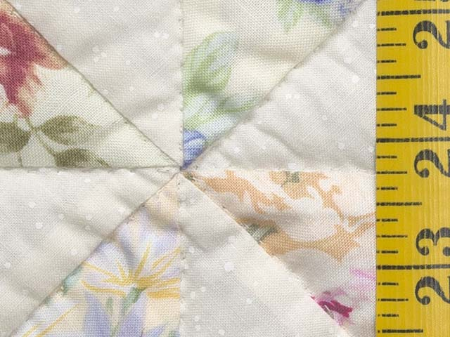Floral Pastels and Cream Pinwheel Crib Quilt Photo 5