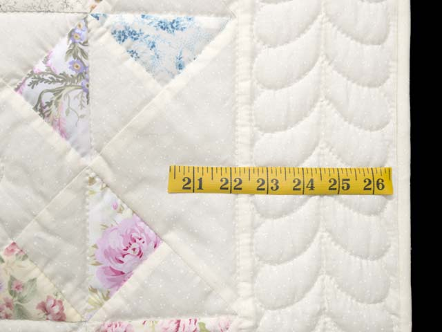 Floral Pastels and Cream Pinwheel Crib Quilt Photo 6