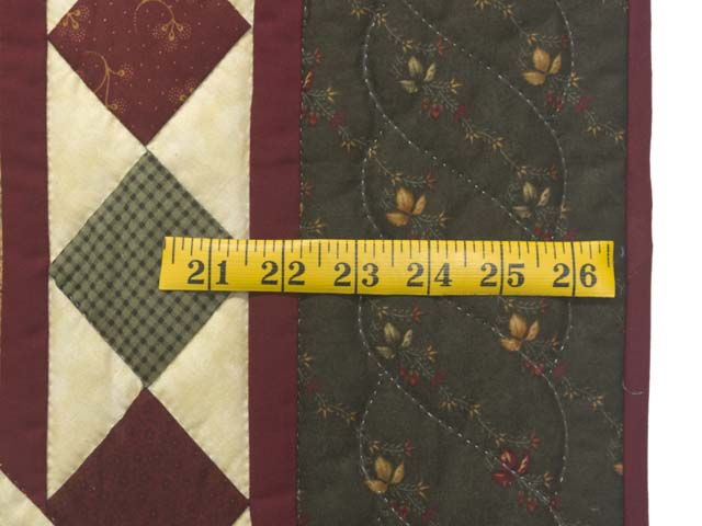 Dark Green and Burgundy Compass Star Wall Hanging Photo 6