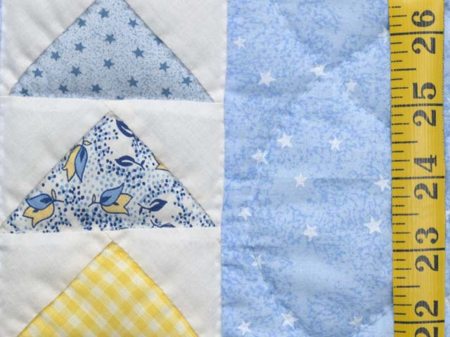 Pastel Blue and Multicolor  Flying Geese Crib Quilt Photo 4