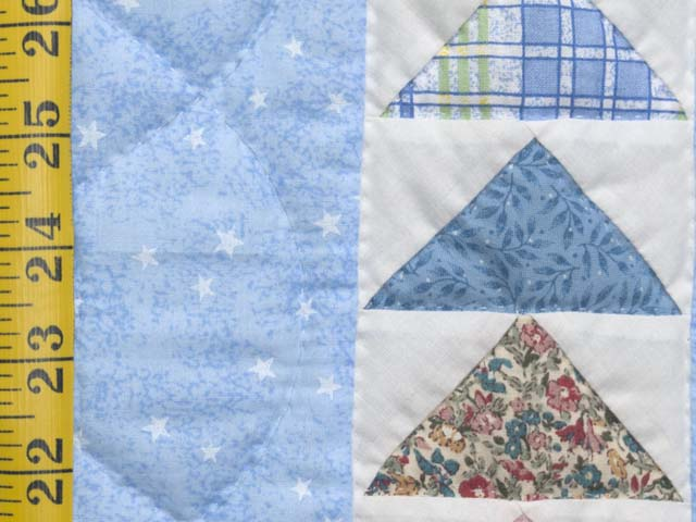 Pastel Blue and Multicolor  Flying Geese Crib Quilt Photo 5