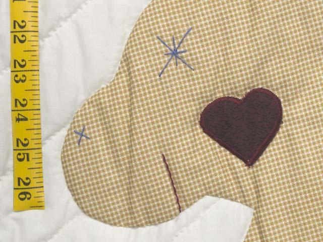Burgundy  Rocking Horse Crib Quilt Photo 4