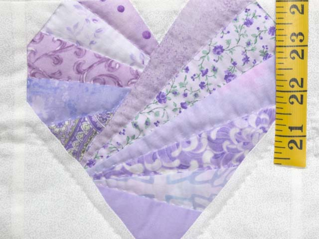 Lavender and Cream Patchwork Hearts Quilt Photo 4
