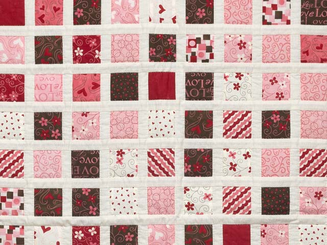 Pink and Chocolate Delight Crib Quilt Photo 2