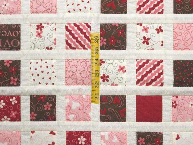 Pink and Chocolate Delight Crib Quilt Photo 3