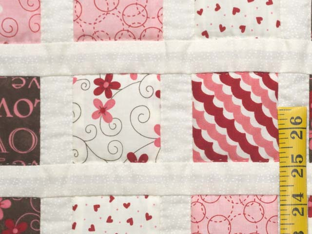 Pink and Chocolate Delight Crib Quilt Photo 4