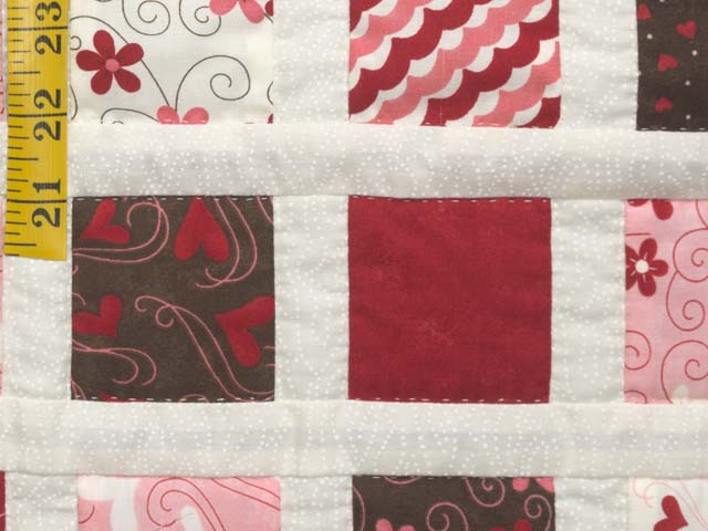 Pink and Chocolate Delight Crib Quilt Photo 5