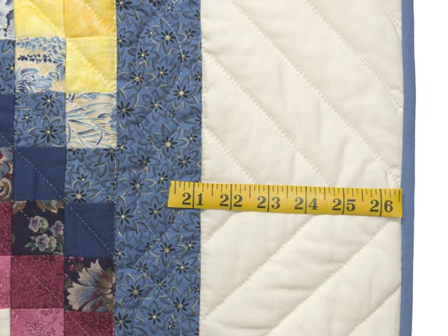 Blue and Pastel ABC Crib Quilt Photo 6
