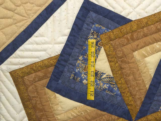 Navy and Gold Star Spin Wall Hanging Photo 3