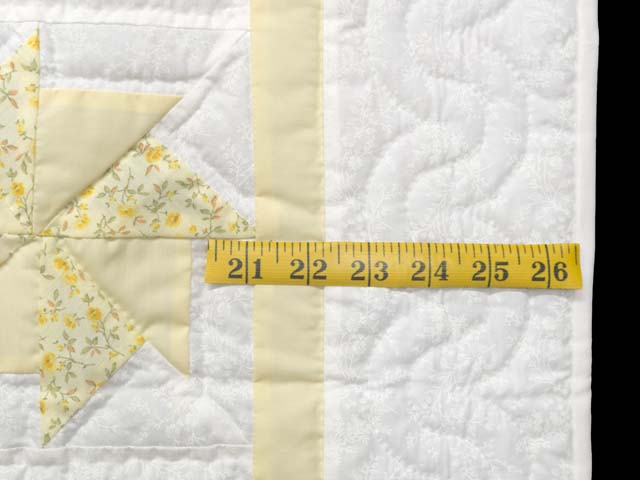 Pastel Yellow and Multicolor Pinwheels Crib Quilt Photo 7