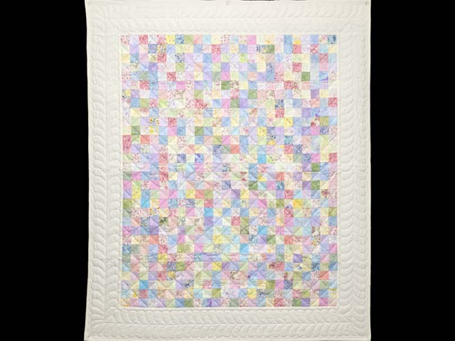 Pastels and Cream Hit or Miss Crib Quilt Photo 1